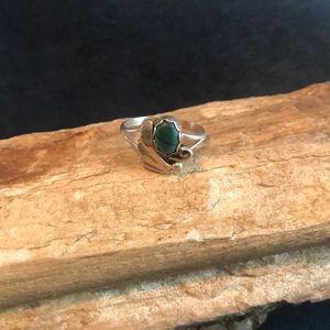 Native American Sterling & Malachite Ring